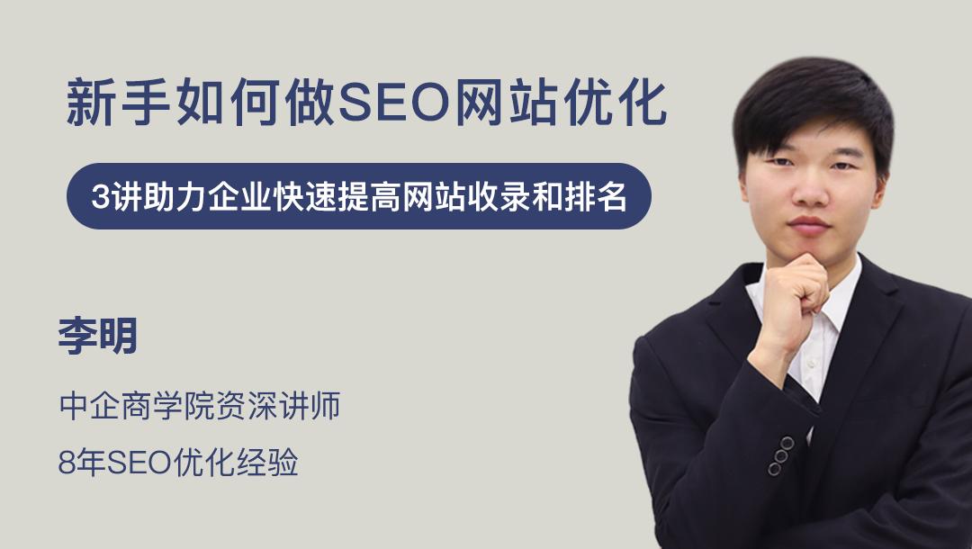 新手如何做SEO网站优化,教你快速提高企业网站收录和排名